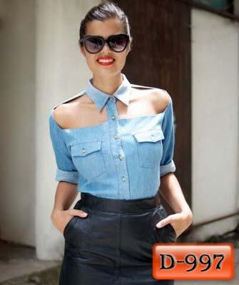 Арт. D-997     Рубашка джинсовая