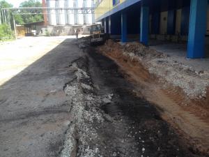 Фото  Строительство временных дорог