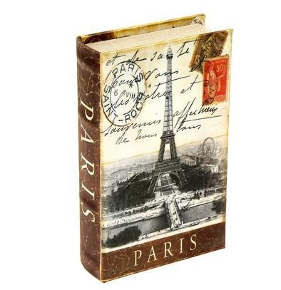 "Сейф-книга шёлк ""Панорама Парижа"""