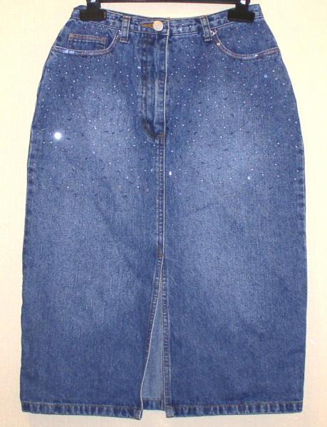Юбка джинсовая подростковая *2219
