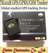 Фото Авто портативный TK102B GPS трекер TF карта г-сенсор четырехъядерных процессоров band полные аксессуары с розничной коробке