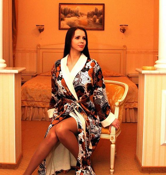 Халат женский шелковый «НИК Teкстиль»