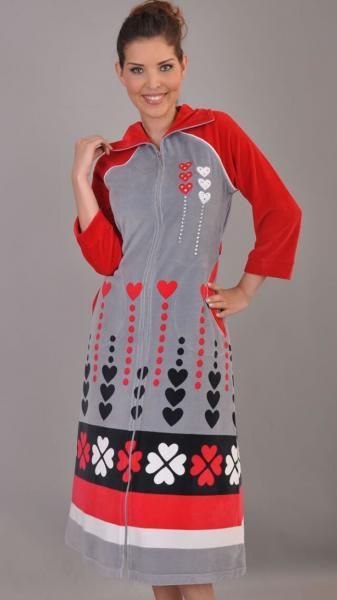 Женский велюровый халат «Wild Love»