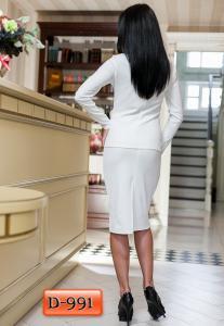 Фото Костюмы женские, деловые, повседневные Арт. D-991     Женский костюм с перфорацией джемпера и юбки