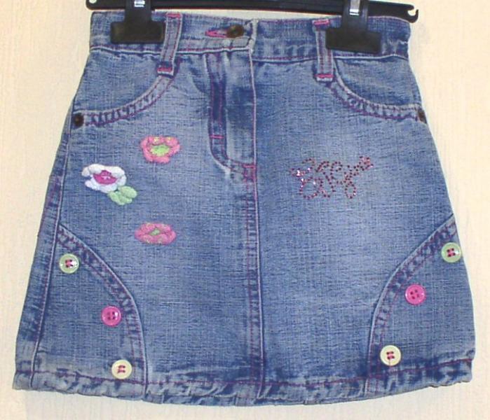 Юбка джинсовая детская *2369