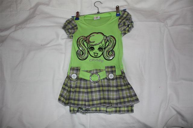 Платье трикотажное для девочки 2096
