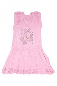 Фото Вязанные платья Вязаный сарафан из немецкого хлопка 5506