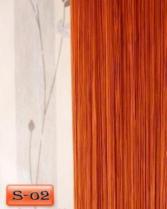 Фото Шторы нити Кисея, • «Однотонные» шторы нити «Однотонные» цвет Терракотовый     (Арт. S-о2)