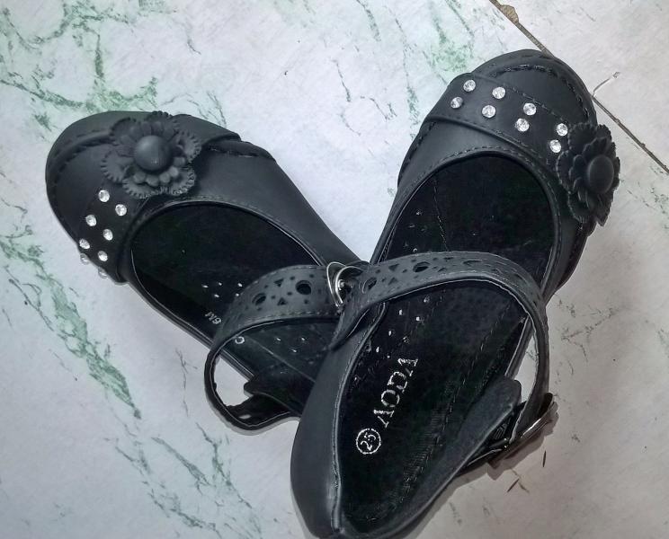 Детские Туфли Aoda  девочка черные 25-27