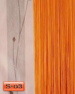 Фото Шторы нити Кисея, • «Однотонные» шторы нити «Однотонные» цвет Оранжевый     (Арт. S-о3)