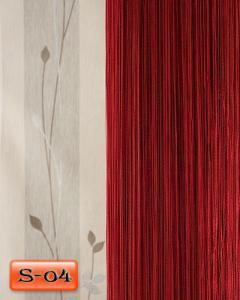 Фото Шторы нити Кисея, • «Однотонные» шторы нити «Однотонные» цвет Бордовый     (Арт. S-о4)