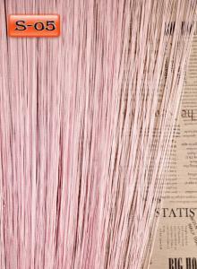 Фото Шторы нити Кисея, • «Однотонные» шторы нити «Однотонные» цвет Розовый     (Арт. S-о5)