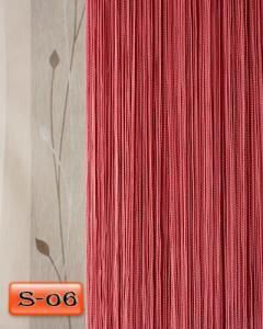 Фото Шторы нити Кисея, • «Однотонные» шторы нити «Однотонные» цвет Фрезовый     (Арт. S-о6)