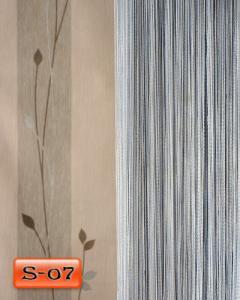 Фото Шторы нити Кисея, • «Однотонные» шторы нити «Однотонные» цвет Серый     (Арт. S-о7)