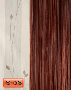 Фото Шторы нити Кисея, • «Однотонные» шторы нити «Однотонные» цвет Шоколадный     (Арт. S-о8)