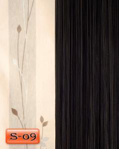 Фото Шторы нити Кисея, • «Однотонные» шторы нити «Однотонные» цвет Черный     (Арт. S-о9)