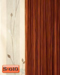 Фото Шторы нити Кисея, • «Однотонные» шторы нити «Однотонные» цвет Коричневый     (Арт. S-о10)