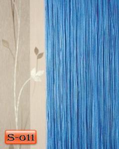 Фото Шторы нити Кисея, • «Однотонные» шторы нити «Однотонные» цвет Голубой     (Арт. S-о11)