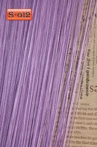 Фото Шторы нити Кисея, • «Однотонные» шторы нити «Однотонные» цвет Сиреневый     (Арт. S-о12)