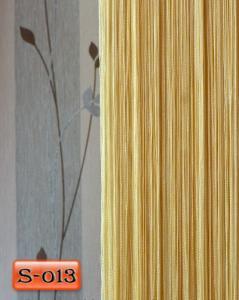 Фото Шторы нити Кисея, • «Однотонные» шторы нити «Однотонные» цвет Шампань     (Арт. S-о13)