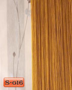Фото Шторы нити Кисея, • «Однотонные» шторы нити «Однотонные» цвет Золотой     (Арт. S-о16)
