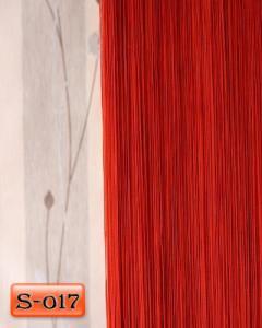 Фото Шторы нити Кисея, • «Однотонные» шторы нити «Однотонные» цвет Красный     (Арт. S-о17)