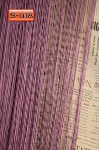 Фото Шторы нити Кисея, • «Однотонные» шторы нити «Однотонные» цвет Сливовый     (Арт. S-о18)