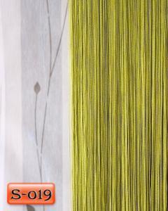 Фото Шторы нити Кисея, • «Однотонные» шторы нити «Однотонные» цвет Оливковый     (Арт. S-о19)