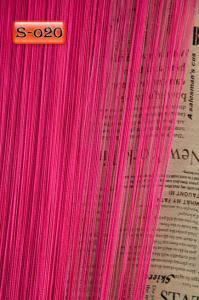 Фото Шторы нити Кисея, • «Однотонные» шторы нити «Однотонные» цвет Малиновый     (Арт. S-о20)