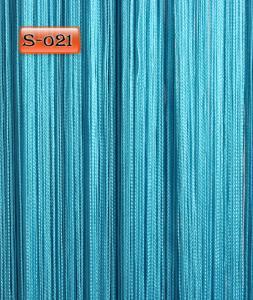 Фото Шторы нити Кисея, • «Однотонные» шторы нити «Однотонные» цвет Бирюзовый     (Арт. S-о21)
