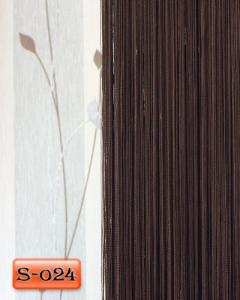 Фото Шторы нити Кисея, • «Однотонные» шторы нити «Однотонные» цвет Венге     (Арт. S-о24)