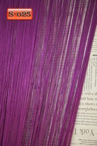 Фото Шторы нити Кисея, • «Однотонные» шторы нити «Однотонные» цвет Фиолетовый     (Арт. S-о25)