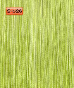Фото Шторы нити Кисея, • «Однотонные» шторы нити «Однотонные» цвет Салатовый яркий     (Арт. S-о26)