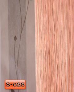 Фото Шторы нити Кисея, • «Однотонные» шторы нити «Однотонные» цвет Персиковый     (Арт. S-о28)