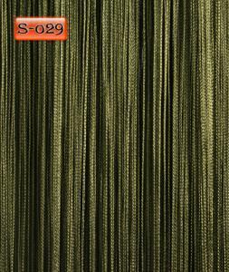 Фото Шторы нити Кисея, • «Однотонные» шторы нити «Однотонные» цвет Болотный     (Арт. S-о29)