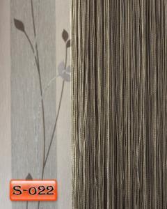 Фото Шторы нити Кисея, • «Однотонные» шторы нити «Однотонные» цвет Мышиный     (Арт. S-о22)