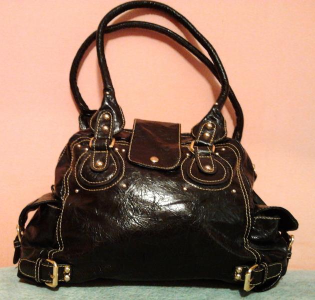 Стильная женская сумка бордовая