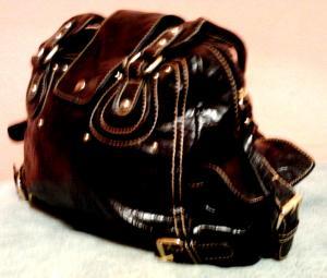 Фото Женские сумки Стильная женская сумка бордовая