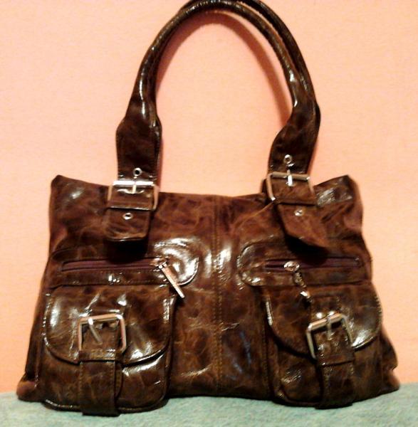 Женская сумка с двумя карманами