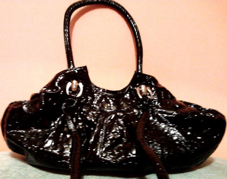 """Женская сумка с удлиненными ручками (искусственная """"крокодиловая"""" кожа)"""