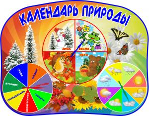 Фото 5.. Стенды для детских садов Стенд- календарь