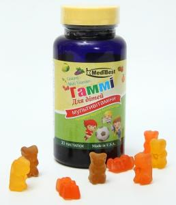 Фото Для детей Гамми мультивитамины