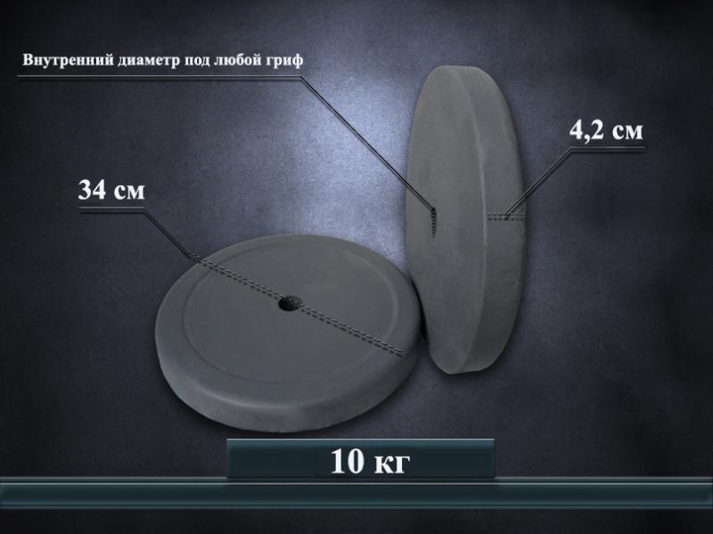Диски на штангу 10 кг(пара)