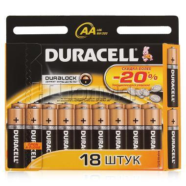 Батарейки Duracell R6/R3 Оригинал 18 шт в пачке