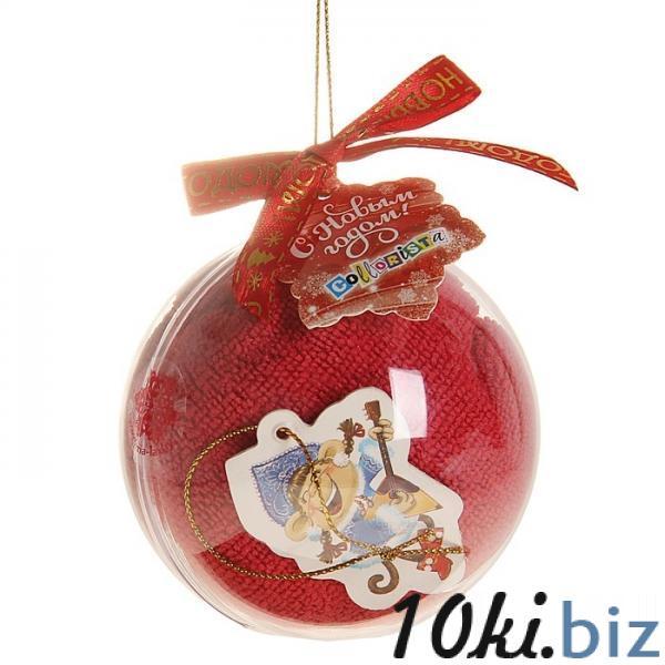"Полотенце сувенирное ""Collorista"" Снегурочка, 30х30 см, микрофибра 1108922 Полотенца  в Казахстане"