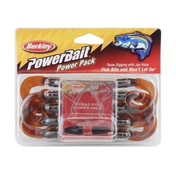 Сил Твистер в наборе Berkley BPPTRW7-MO 18см.10шт. Техаская оснастка Моторное Масло