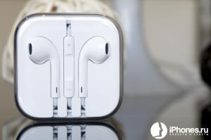 Фото Аксессуары , Наушники Наушники Apple iPhone 5 Белые