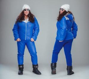 Фото Зима, Спортивные костюмы Дутый спортивный костюм для пышных дам