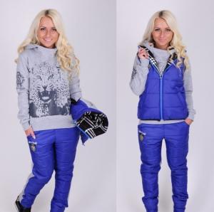 Фото Зима, Спортивные костюмы Дутый спортивный костюм троика