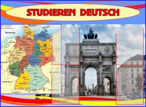 Фото 4.. Стенды для школ Стенд для кабинета немецкого языка